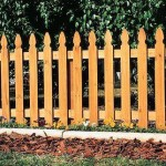 Palisade Wood Picket Fence
