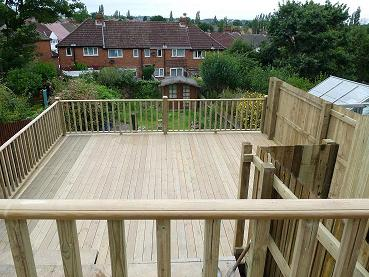Worcester Fencing Solutions decking Job
