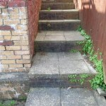 Old stone steps to be replaced by fencing solutions