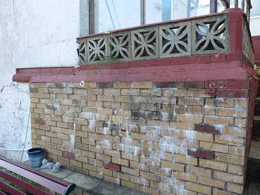old wall and patio replaced by decking and fencing
