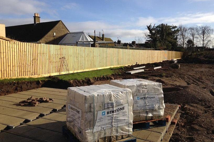 Closeboard Fencing for Spitfire Homes