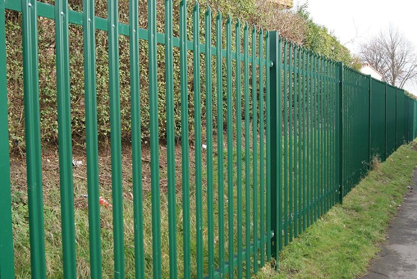 Coated Palisade Security Fencing