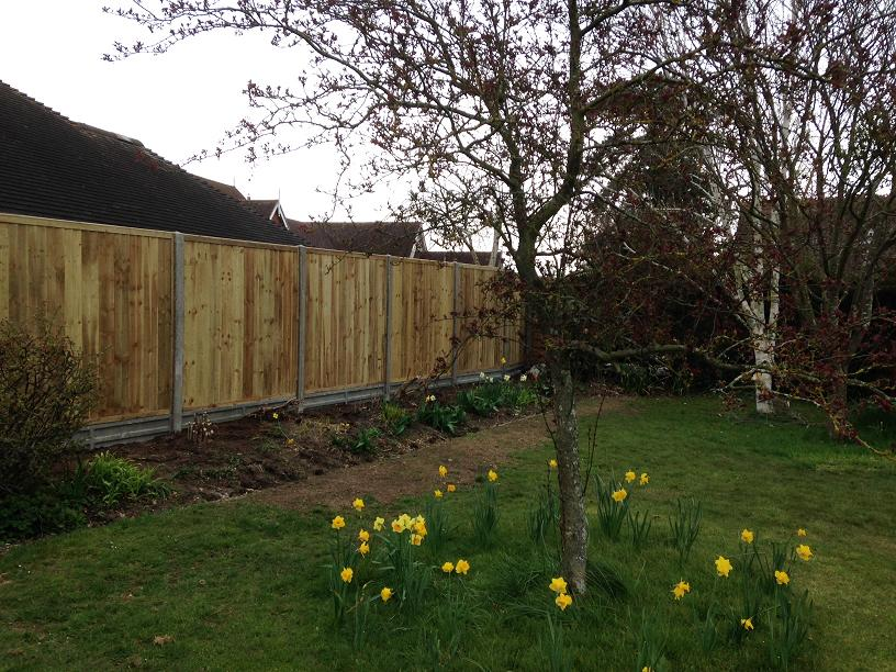 Fencing - concrete posts and gravel boards